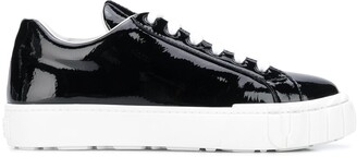 Miu Miu Glossy Low-Top Sneakers