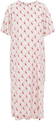Baum und Pferdgarten Abbryana Printed Silk-blend Satin Midi Dress