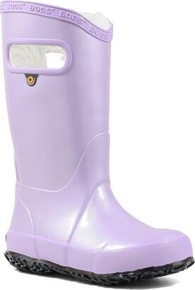 Bogs Rainbow Metallic Plush Waterproof Rain Boot