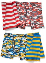 Gap Camo and stripe trunks (4-pack)