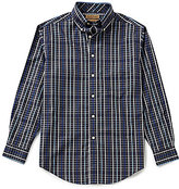 Roundtree & Yorke Gold Label Big & Tall Plaid Non-Iron Dobby Perfect Performance Sportshirt