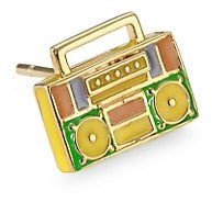 Judith Leiber 14K Goldplated Sterling Silver & Enamel Boom Box Single Stud Earring