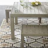 "west elm Portside Outdoor Dining Table (58"") - Weathered Gray"