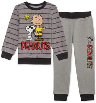 Peanuts Little Boys 2-Pc. Sweatshirt & Joggers Set