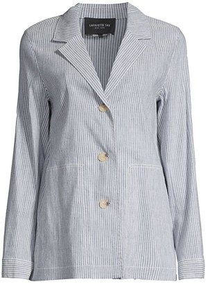 Lafayette 148 New York Coleman Pinstripe Jacket