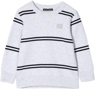 Acne Studios Kids Grey Striped Sweatshirt