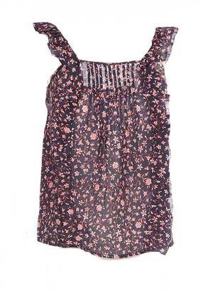 Frame Cecile Sleeveless Ruffle Floral Top
