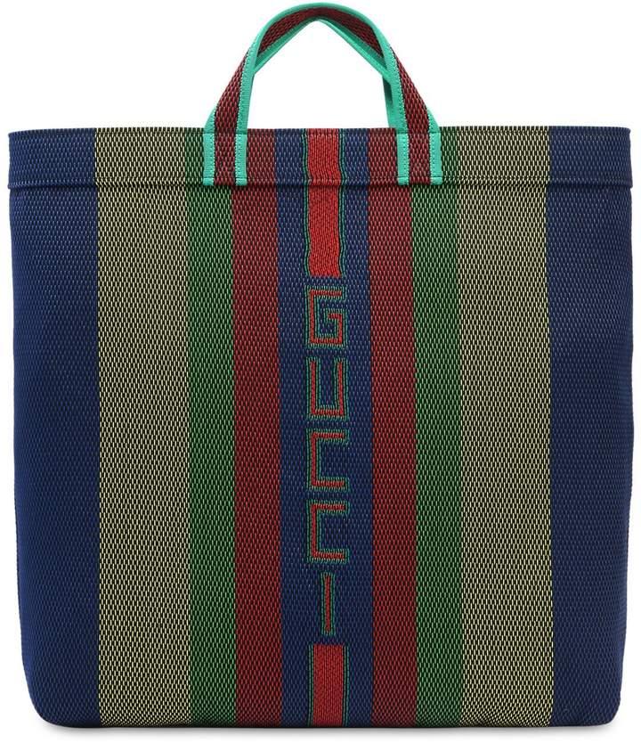 Gucci Woven Nylon Tote Bag