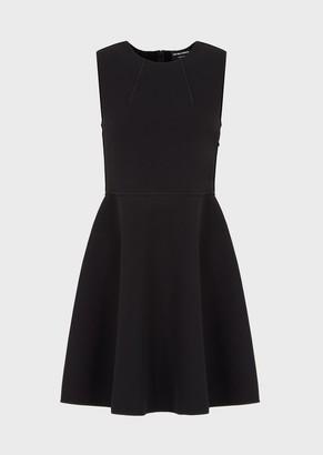 Emporio Armani Flared, Crepe-Jersey Dress