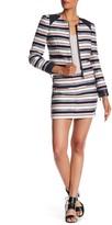 Rebecca Minkoff Driver Genuine Leather Trimmed Skirt