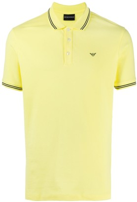 Emporio Armani Stripe-Detail Polo Shirt