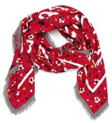 Marc Jacobs Women's Hearts & Flowers Scarf