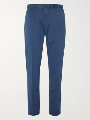 Boglioli Army-Green Slim-Fit Stretch-Cotton Twill Suit Trousers