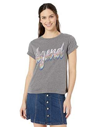 William Rast Women's Beaux Rolled Sleeve Tee Shirt