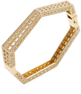 Maiyet 18K Yellow Gold & 4.88 Total Ct. Diamond Geometric Cage Bangle Bracelet
