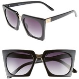 A. J. Morgan Women's A.j. Morgan Cropduster 52Mm Sunglasses - Black