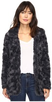 Dylan by True Grit Silky Faux Fur Classic Coat with Fur Lining