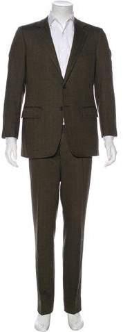 Gucci Herringbone Wool Suit