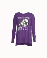 Royce Apparel Inc Women's TCU Horned Frogs Noelle Long-Sleeve T-Shirt