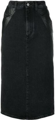 Givenchy denim midi pencil skirt