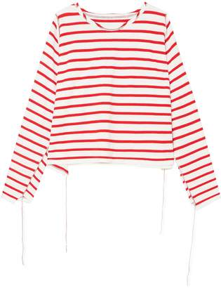 MM6 MAISON MARGIELA Striped Cotton Top