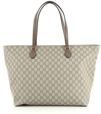 Gucci Ophidia Zip Tote GG Coated Canvas Medium