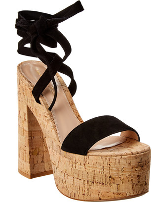 Gianvito Rossi Ambra Suede Platform Sandal
