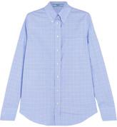 Prada Prince Of Wales Checked Cotton-poplin Shirt
