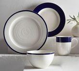 Pottery Barn Banded Rim 16-Piece Dinnerware Set - Navy