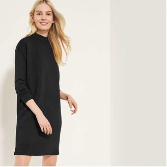 Joe Fresh Women's Ponte Turtleneck Dress, JF Black (Size S)