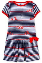 Petit Bateau Girls whimsical striped dress
