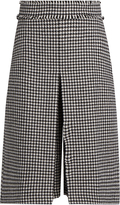J.W.Anderson Hound's-tooth wool-blend pleated culottes