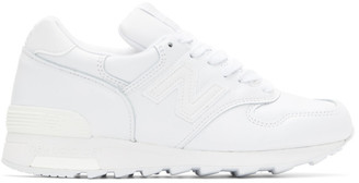 New Balance White Made In US 1400 Sneakers