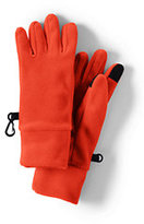 Classic Boys 100 Fleece Gloves-Rich Red Chunky Fairisle
