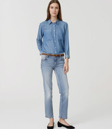 LOFT Tall Straight Crop Jeans in Vintage Wash