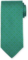 Salvatore Ferragamo Bicolor Gancio Silk Twill Tie, Green