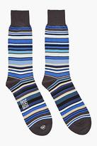 Paul Smith Multistripe Tall Stretch Socks