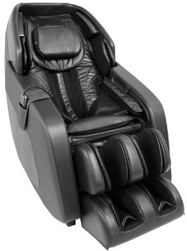 Reclining Adjustable Width Heated Full Body Massage Chair Latitude Run Upholstery Color: Black