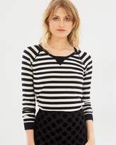 Maison Scotch Buttoned Pullover