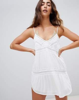 Amuse Society Summer Light Beach Dress-White