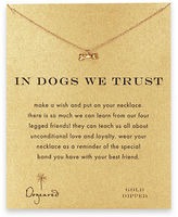 Dogeared In Dogs We Trust Dog Bone Pendant Necklace