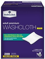 Member's Mark Adult Premium Disposable Washcloth Value Pack 288 count Carton...