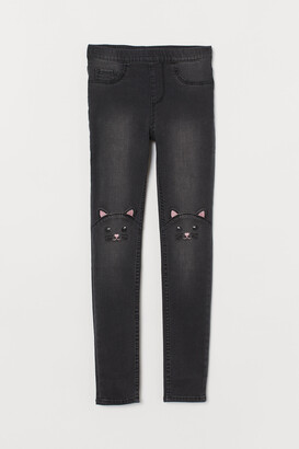 H&M Denim Leggings with Cats