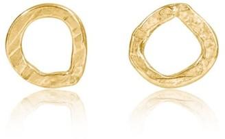 18K Classic Karma Circle Gold Earrings