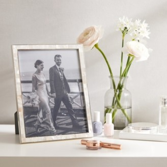 """The White Company Mother of Pearl Photo Frame 8x10"""", White, One Size"""