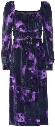 Altuzarra Adrienne silk-blend velvet dress