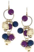 Multi ring & bead drop earrings