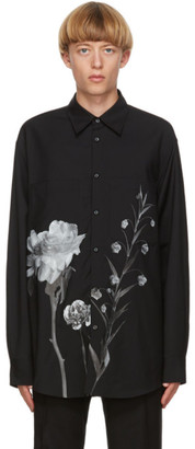 Valentino Black Inez and Vinoodh Edition Wool and Mohair Floral Shirt