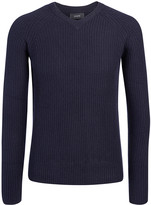 Spring Cashmere V Sweater In Navy