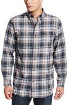 Carhartt Men's Big & Tall Trumbull Plaid Shirt Midweight Flannel Relaxed Fit
